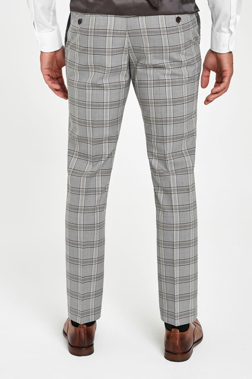 Next Angelico Signature Check Suit: Trousers-Slim Fit