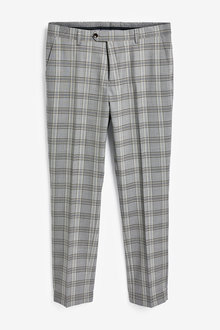 Next Angelico Signature Check Suit: Trousers-Slim Fit - 268107