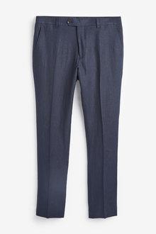 Next Nova Fides Signature Linen Suit: Trousers-Slim Fit - 268109