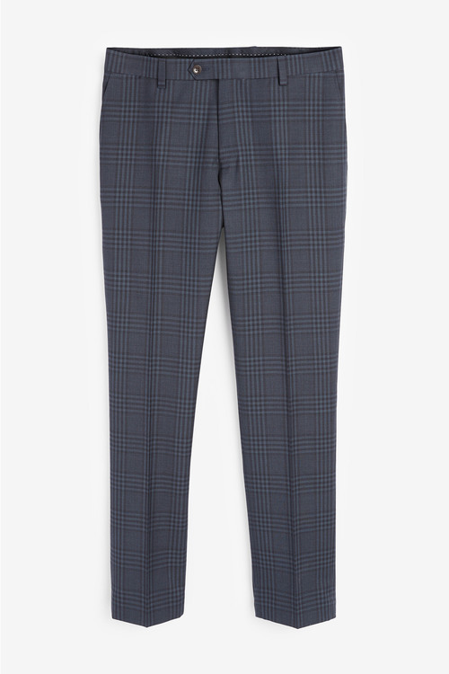 Next Slim Fit Tollegno Check Suit: Trousers