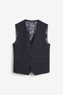 Next Empire Mills Signature Check Suit: Waistcoat - 268120