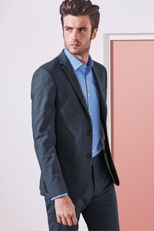 Next Stretch Marl Suit: Jacket- Skinny Fit - 268138