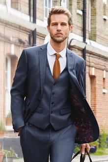 Next Textured Suit: Jacket- Slim Fit - 268146