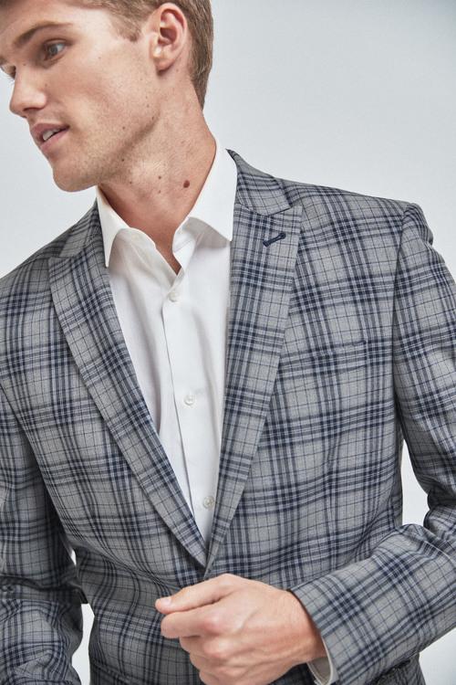 Next Check Suit: Jacket-Slim Fit