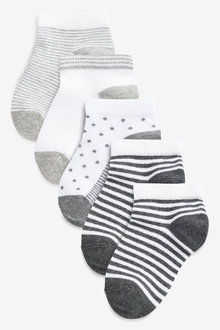 Next Spot And Stripe Trainer Socks Five Pack (Older) - 268179