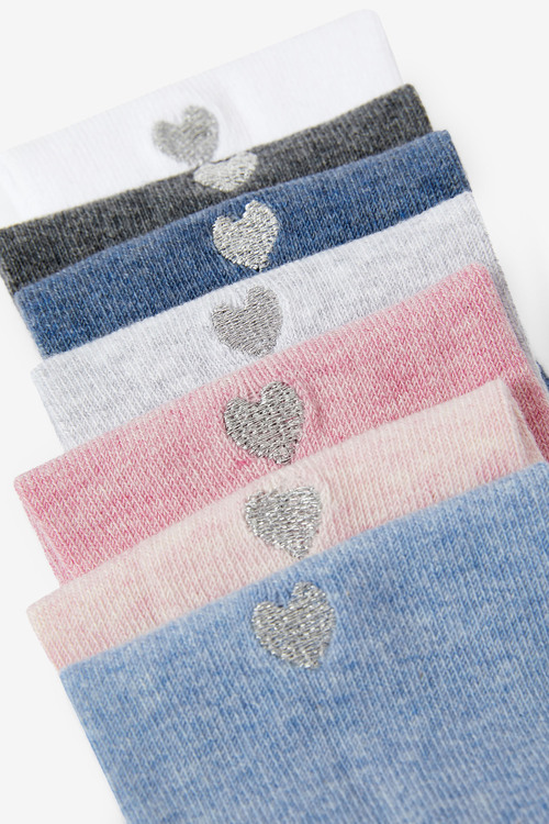 Next 7 Pack Heart Embroidered Socks