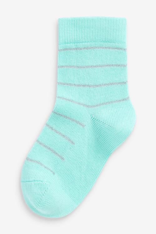 Next 7 Pack Pretty Spot Stripe Socks