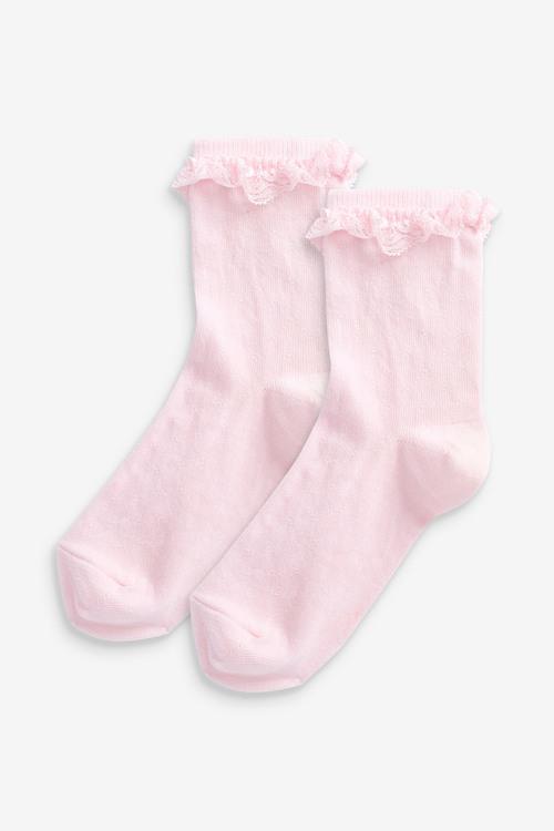 Next 2 Pack Ruffle Socks