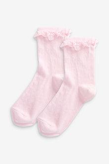 Next 2 Pack Ruffle Socks - 268203