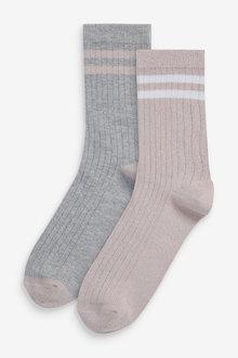 Next 2 Pack Sparkle Sports Socks - 268208