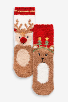 Next 2 Pack Christmas Cosy Socks - 268214