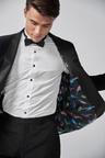 Next Velvet Shawl Collar Tuxedo Jacket-Skinny Fit