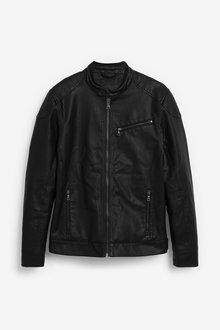 Next Faux Leather Racer Jacket - 268306