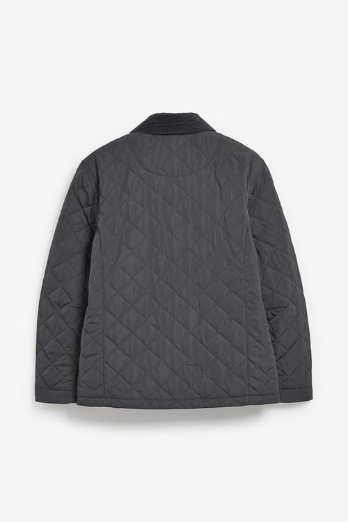 Next Shower Resistant Diamond Quilted Cord Collar Jacket-Regular
