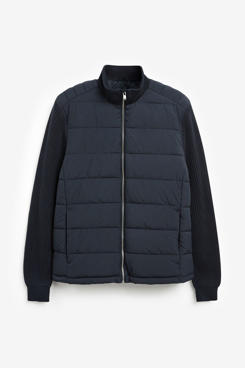 Next Knitted Sleeve Quilted Jacket