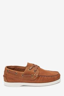 Next Leather Boat Shoes (Older) - 268332
