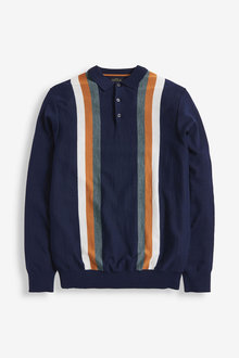 Next Signature Vertical Stripe Poloshirt - 268341
