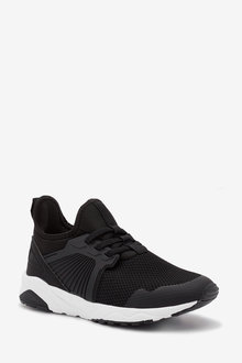 Next Elastic Lace Trainers (Older) - 268342
