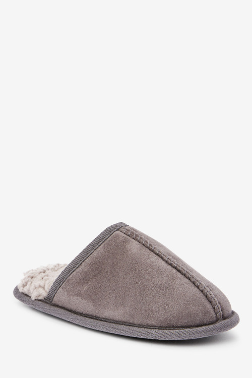 Next Warm Lined Mule Slippers (Older)