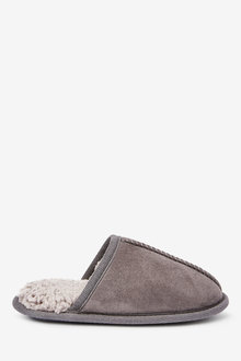 Next Warm Lined Mule Slippers (Older) - 268408