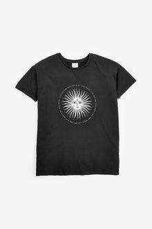 Next Oversized Sun Graphic T-Shirt - 268456