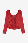 Next Ruched Cropped Bardot Top