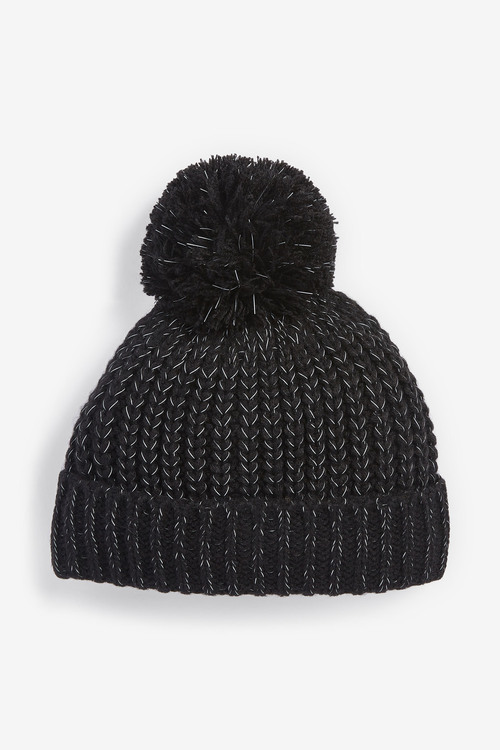 Next Reflective Pom Beanie (Older)