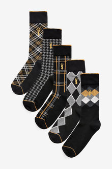 Next Check Socks Five Pack - 268678