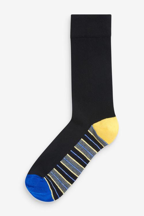 Next Footbed Stripe Socks Five Pack