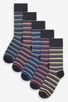 Next Marl Stripe Socks Five Pack