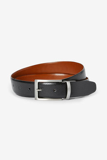 Next Reversible Perforated Leather Belt - 268735