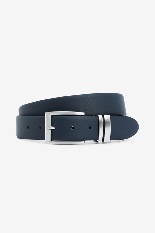 Next Signature Italian Leather Brogue Detail Belt