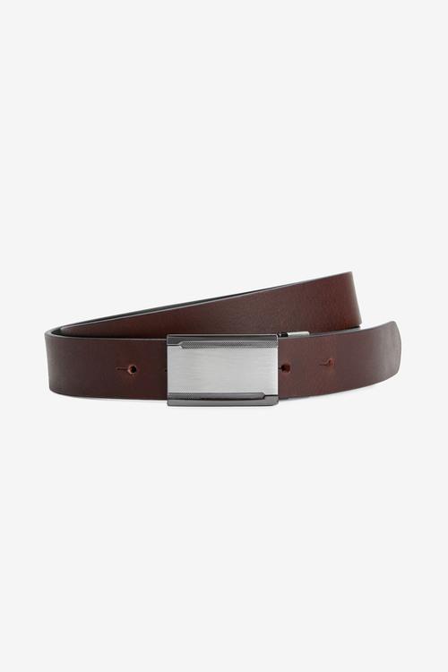 Next Reversible Plaque Leather Belt