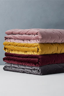 Bordeaux Velvet Throw - 268743