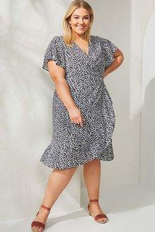 Sara Short Sleeve Wrap Dress - 268814