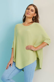 Capture Oversized Poncho Sweater - 268832