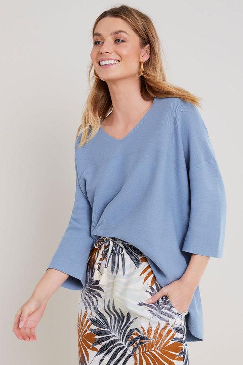 Capture V-Neck Textured Sweater