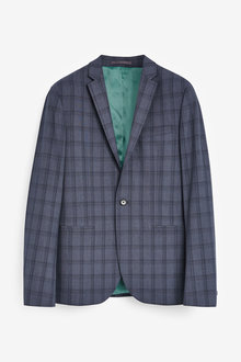 Next Bi-Stretch Check Suit: Jacket - 268845