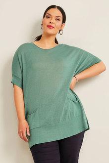 Sara Batwing Pocket Sweater - 268849