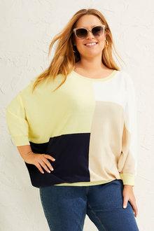 Sara Colourblock Sweater - 268851