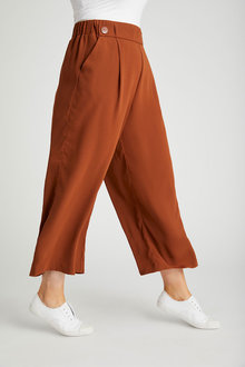Sara Button Detail Culottes - 268875