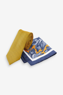 Next Floral Pocket Square And Tie Set - 268908