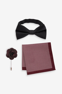 Next Bow Tie, Pocket Square And Lapel Pin Set - 268918
