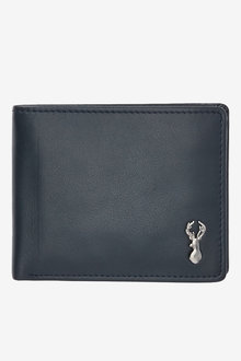 Next Leather Stag Badge Extra Capacity Wallet - 268937