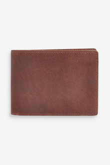 Next Signature Oiled Leather Bifold Wallet - 268939