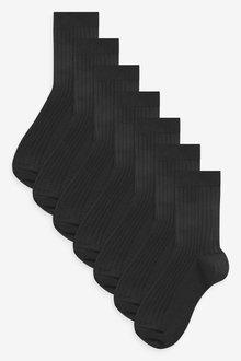 Next 7 Pack Ribbed Cotton Rich Socks (Older) - 269005
