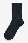 Next 7 Pack Ribbed Cotton Rich Socks (Older)