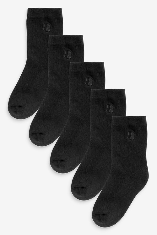 Next 7 Pack Cushioned Footbed Cotton Rich Embroidered Socks (Older)