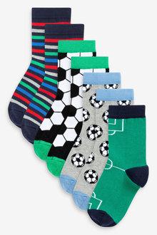 Next 7 Pack Cotton Rich Football Socks (Older) - 269007
