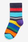 Next 7 Pack Stripe Cotton Rich Socks (Older)